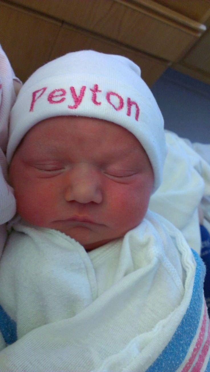 Newborn Baby GIRL or BOY Personalized Hat/ by LittleGraceBowtique, $10.00