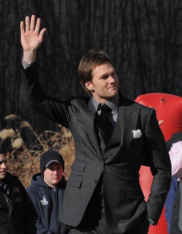 Tom Brady, Super Bowl XLVI Send-off Rally, Jan 29, 2012 #Patriots