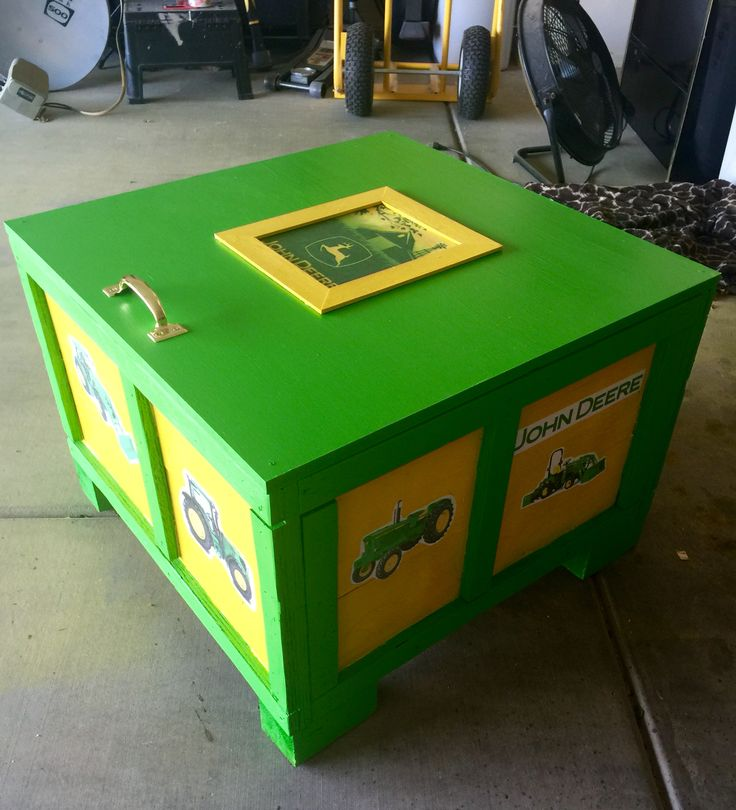 John Deere Toy Box Things I Ve Made Pinterest John
