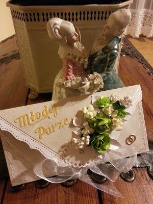 Papierowo zakręcona    : Kopertówka dla młodej pary