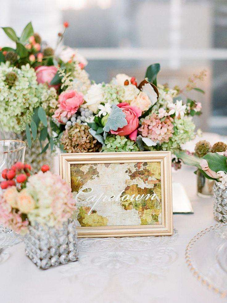 15 Creative Ideas for a Travel-Themed Wedding | Photo by: Heather Waraska | TheKnot.com