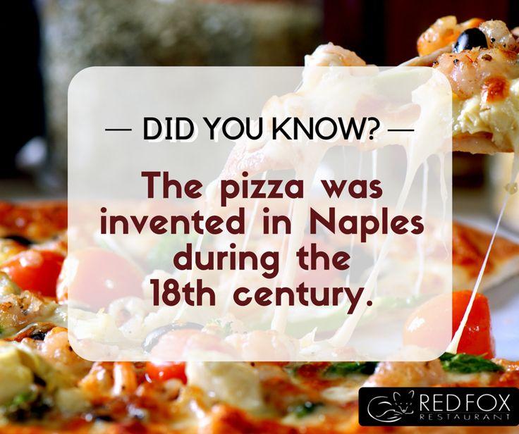 Did You Know?  #RedFoxRestaurant #Restaurant #Warrandyte #Melbourne #Australia #Pizza #PizzaFact #PizzaHistory #DidYouKnow