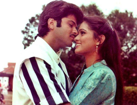 Anil Kapoor and Padmini Kolhapure