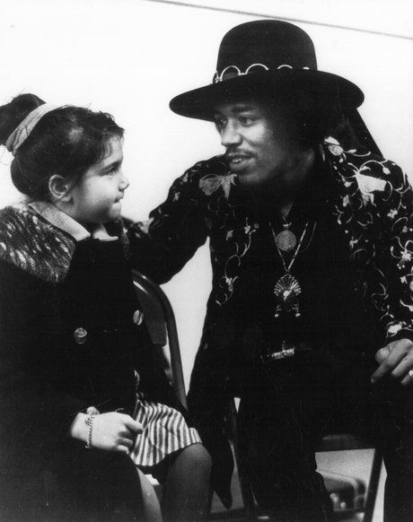 Jimi and stepsister Janie Hendrix.  Her mother was Japanese, her father white.  Mom remarried---to Al Hendrix, Jimi's father.