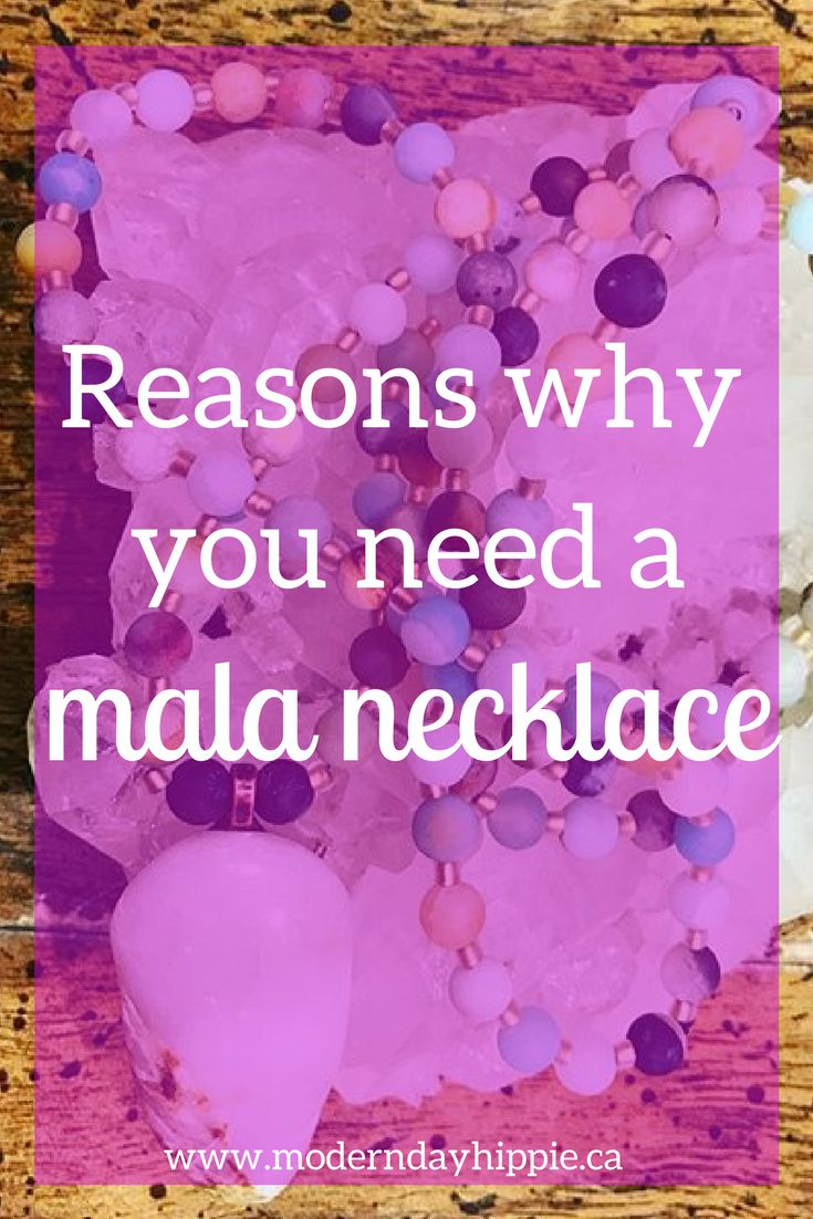Having a Mala necklace in your life will help you set clear intentions for the goals and desires you want to achieve. Plus, they're really pretty! via @Modern Day Hippie Mama