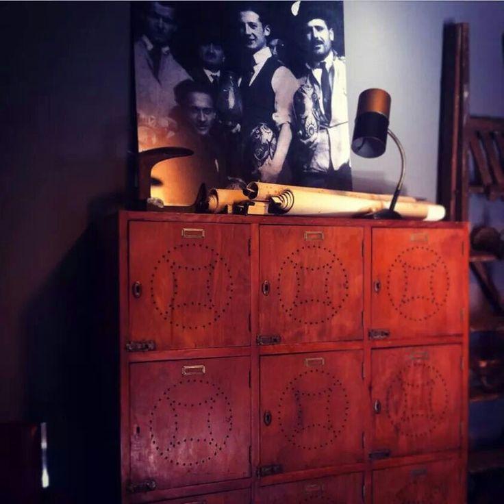 #armadio spogliatoio anni 40 #www.officinamobileroma.com