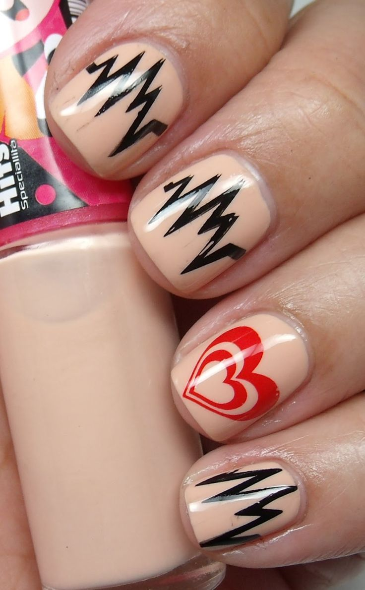 Top 10 Nail Design Ideas - It says Valentine's Day, but I think this works well for Nurses with Heart too. :)