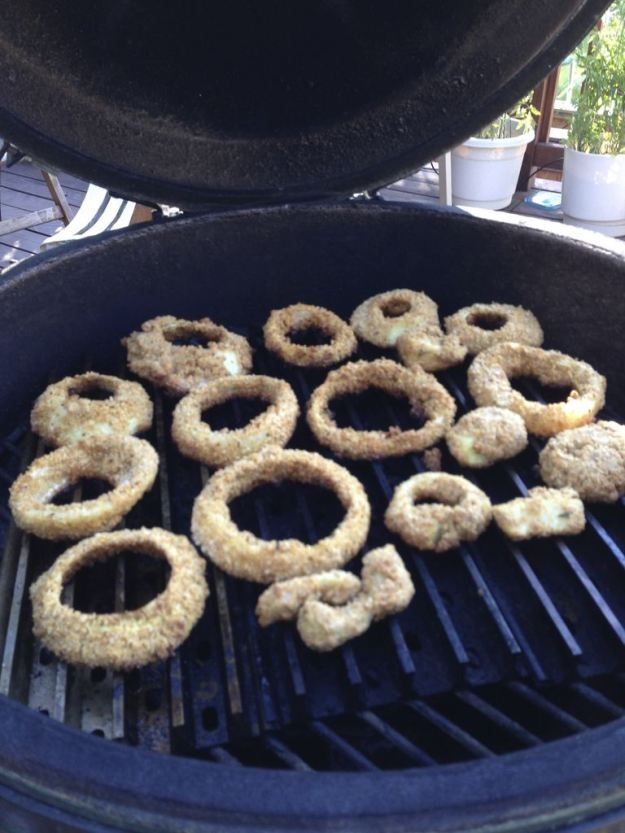 NO FRY- Best Ever Sweet Onion Rings On The Grill..seriously awesome!