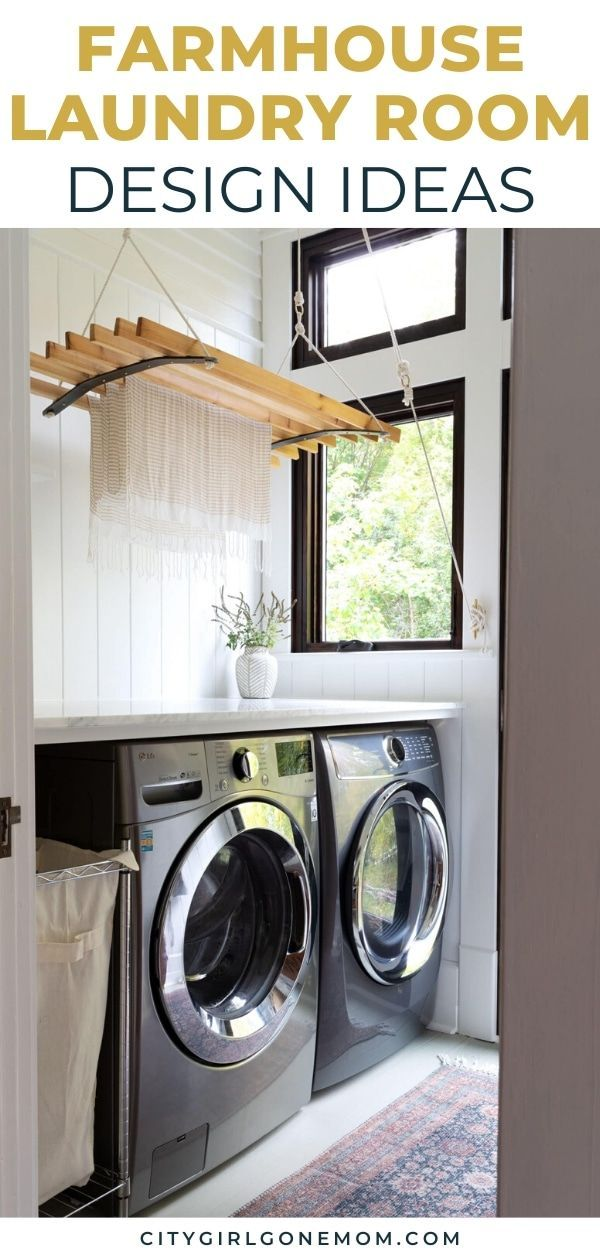 12 Amazing Farmhouse Ideas For The Laundry Room City Girl Gone Mom In 2020 Laundry Room Renovation Laundry Room Inspiration Laundry Room Design