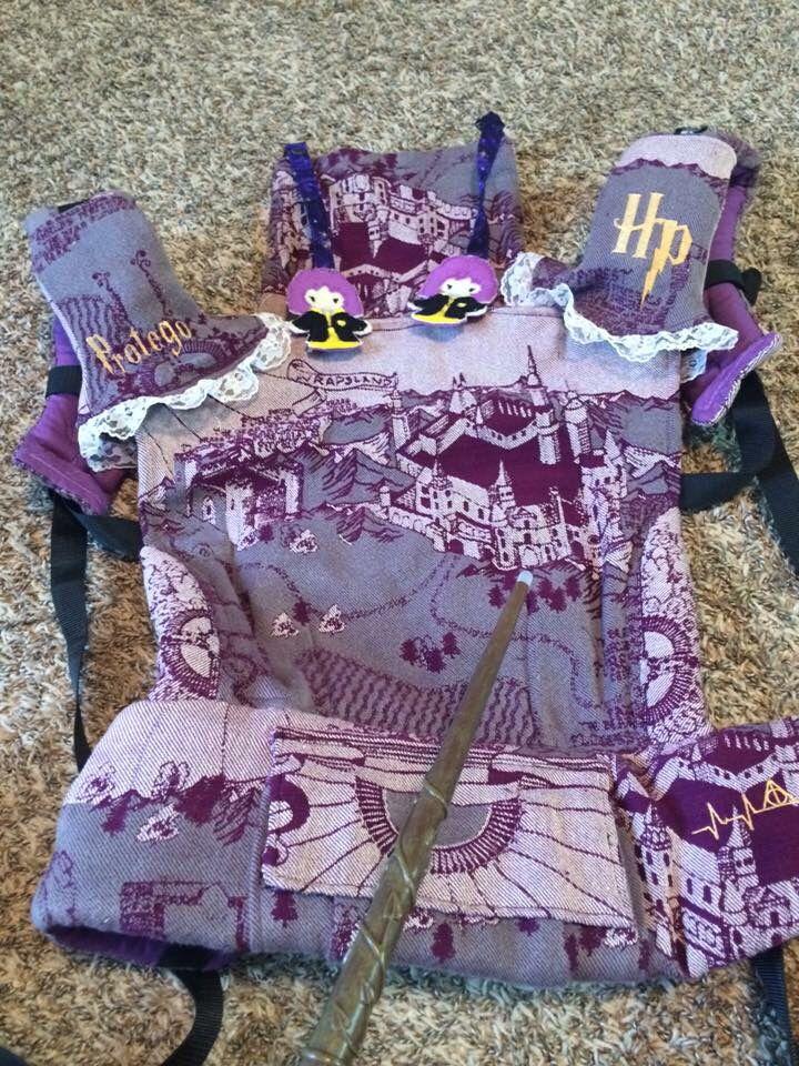 Purple WOR Harry Potter tonks inspired Tula- Bff customs