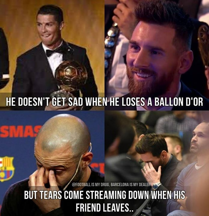 one of the thousands of reasons why Messi is the best futbol player ever