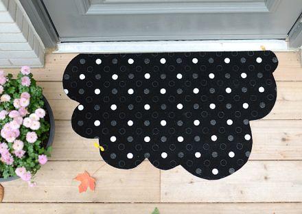 Felpudo diy en forma de nube #mrwonderfulshop #doormat #felpudo #diy