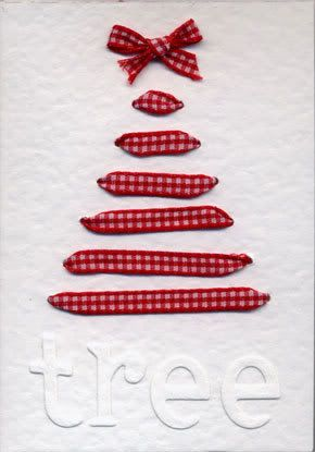 Christmas tree card / ribbon.
