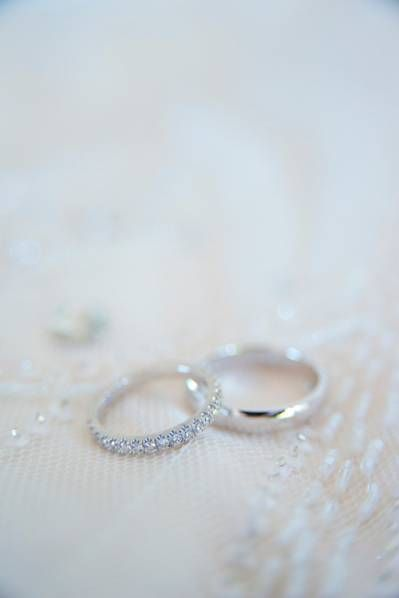 Alianzas de boda en oro blanco
