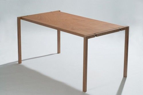 flat folding table from designer Lodovico Bernardi.