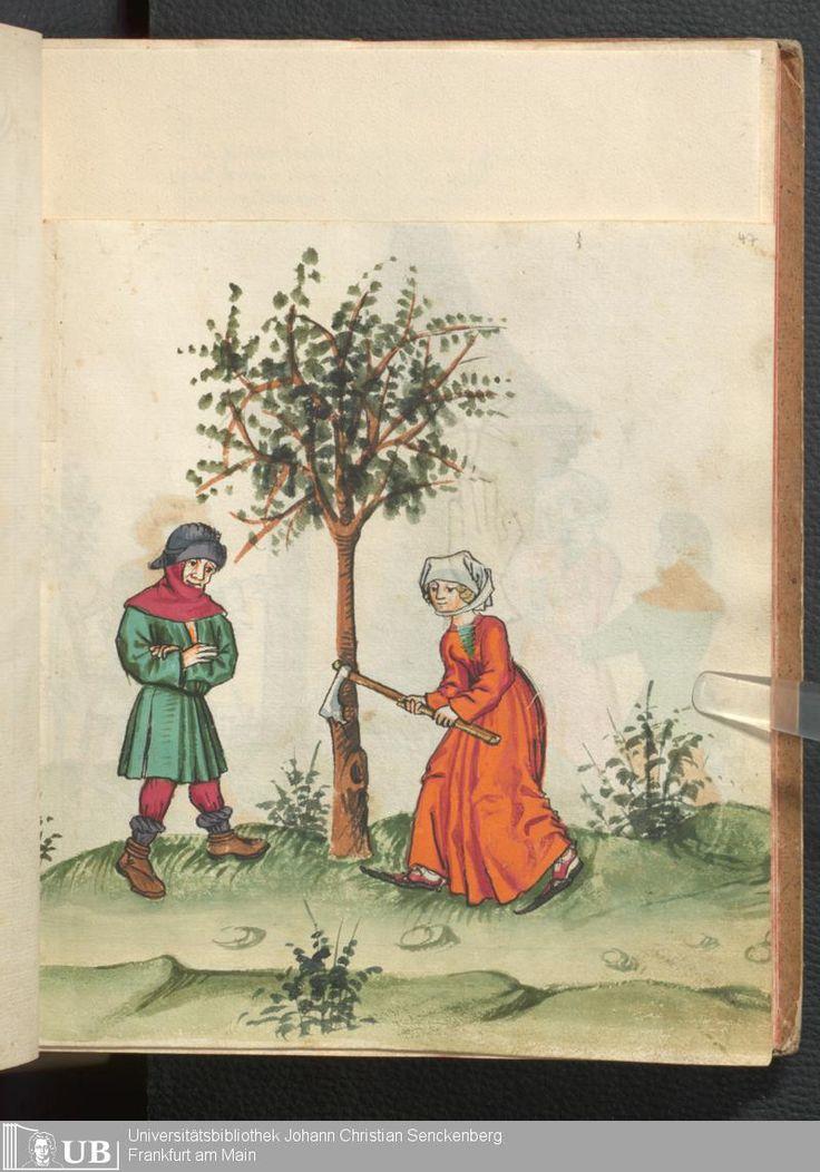 97 [47r] - Ms. germ. qu. 12 - Die sieben weisen Meister - Page - Mittelalterliche Handschriften - Digitale Sammlungen Frankfurt, 1471