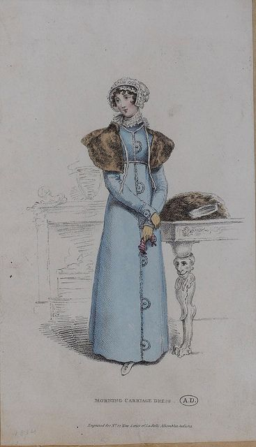 1814 (?) Morning Carriage Dress  (Look at the table leg!):
