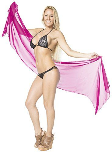 """La Leela Solid Lightweight Chiffon Beach Sarong Pareo Coverup 78X21 Inch Pink. Do YOU want SARONG in other colors Like Red ; Pink ; Orange ; Violet ; Purple ; Yellow ; Green ; Turquoise ; Blue ; Teal ; Black ; Grey ; White ; Maroon ; Brown ; Mustard ; Navy ,Please click on BRAND NAME LA LEELA above TITLE OR Search for �LA LEELA� in Search Bar of Amazon. LENGTH 78"""" [198 cms] WIDTH 21"""" [53 cms]. ONE SIZE SARONG - LENGTH 78 INCHES X WIDTH 21 INCHES (198 Centimeters X 53 Centimeters). FABRIC…"""
