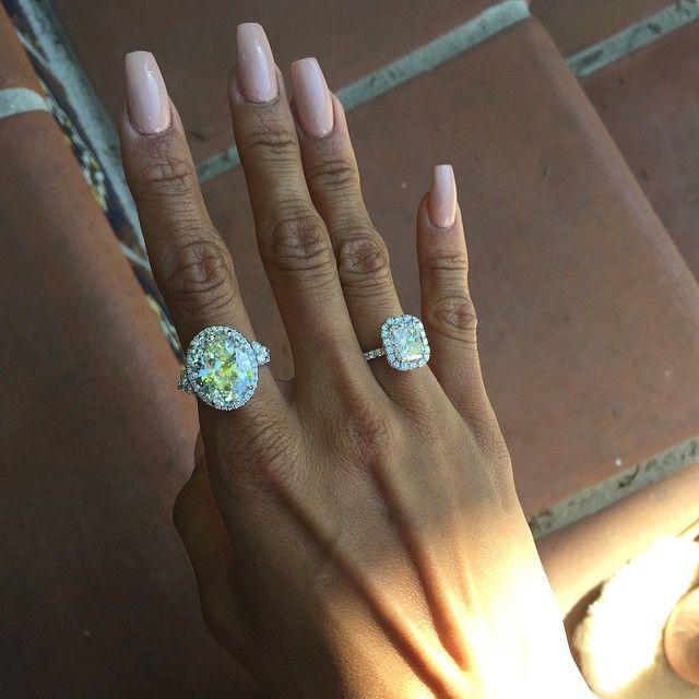 Say What?! Karrueche Tran Gets Massive Diamond Rings from Chris Brown