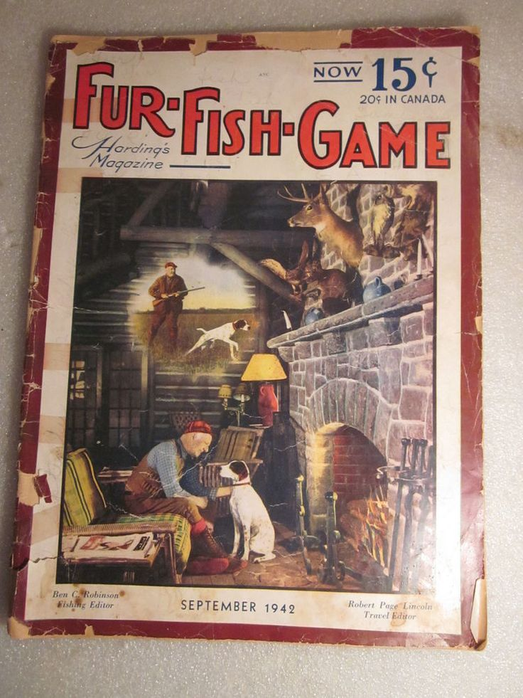 1942 fur fish game magazine september issue with hunter in for Game and fish magazine