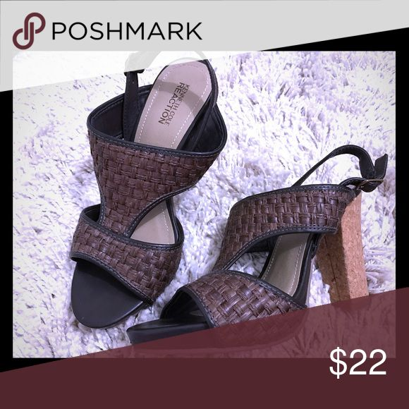 Kenneth Cole cork sandal heels Only worn a couple times. Kenneth Cole Reaction Shoes Heels
