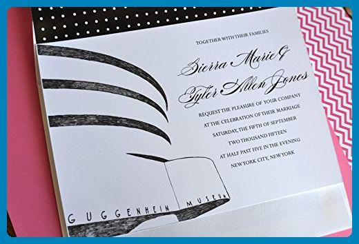 New York Guggenheim Museum Wedding Invitations Package (Sold in sets of 10 Invitations, RSVP Cards and Envelopes) - Wedding party invitations (*Amazon Partner-Link)