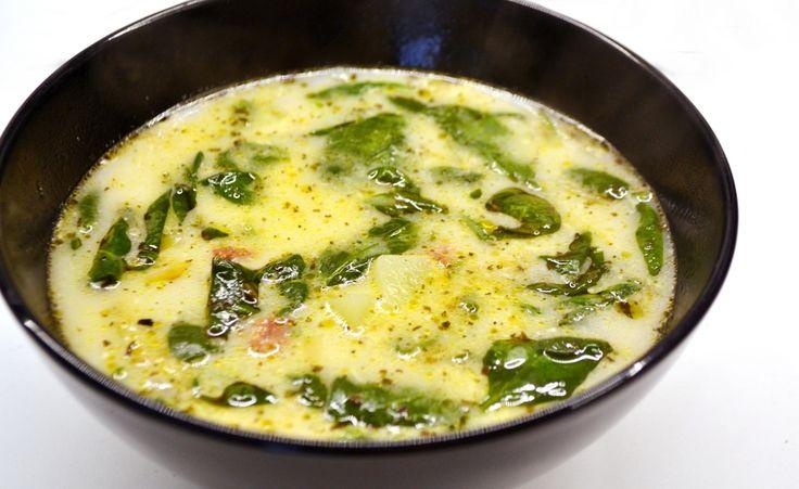 Spenótos, kolbászos leves recept