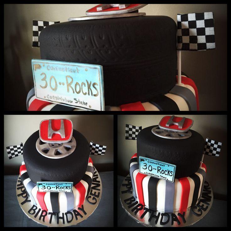 Honda wheel/ Logo Birthday Cake