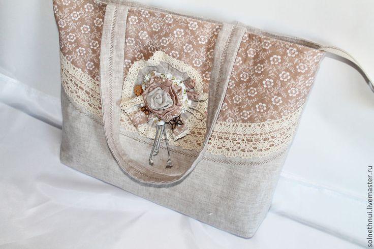 """Купить Льняная сумка """"Степной цветок"""" - льняная сумка, лен, экостиль, натуральные материалы"""