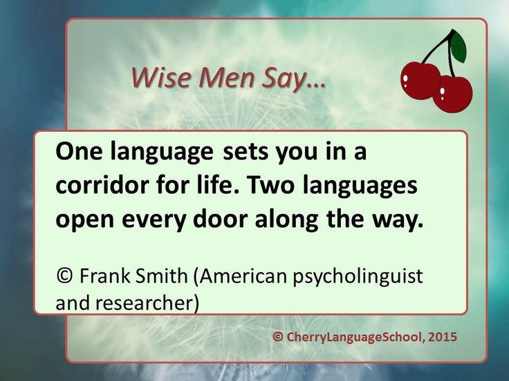 Один язык приводит вас в коридор жизни. Два языка открывают все двери на этом пути  #english #learningenglish #wisemensay #cherrylanguageschool #cls #школаиностранныхязыков #репетитор #репетиторанглийского #репетиторнемецкого #репетиторфранцузского