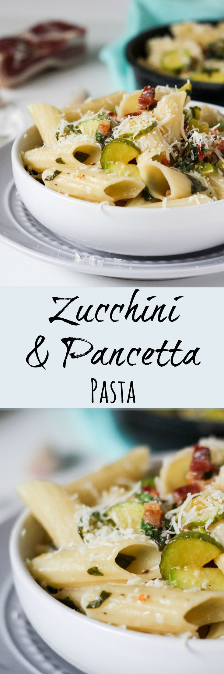 Zucchini & Pancetta Pasta.  A great way to use up a zucchini glut.