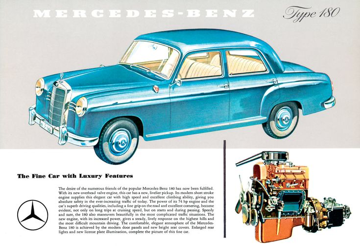 Mercedes 180 Poster Size Advert by AtomicScrapbook on Etsy                                                                                                                                                                                 More