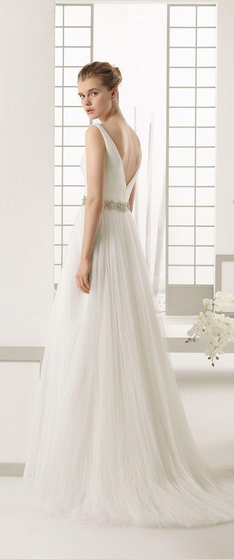 Lisa robertson in wedding dress - Open Low Back Tulle Wedding Dresses Rosa Clara Danes