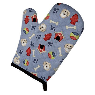 Caroline's Treasures Dog House Longhair Dachshund Oven Mitt Color: Creme
