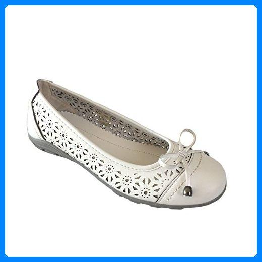 Scandi- Damen Schuh Slipper, Ballerinas Schuhe-Weiß Größe 36-42 Neu Weiss 41 - Ballerinas für frauen (*Partner-Link)