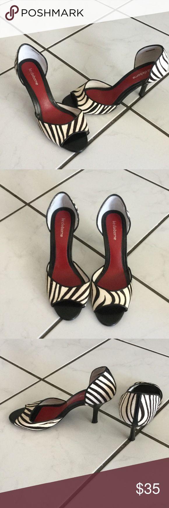 Liz Claiborne zebra print heels Liz Claiborne zebra hair print 2 inch heels brand new never worn Liz Claiborne Shoes Heels