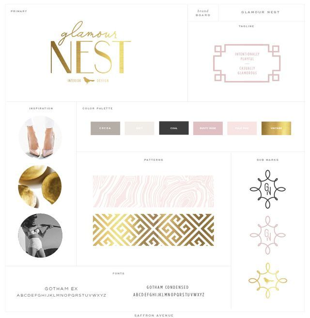 Logo Website Design Glamour Nest Interior