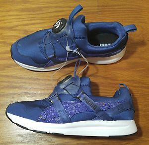NEW Puma Disc System Running Walking Athletic Shoes Womens 8 Blue 356887 03