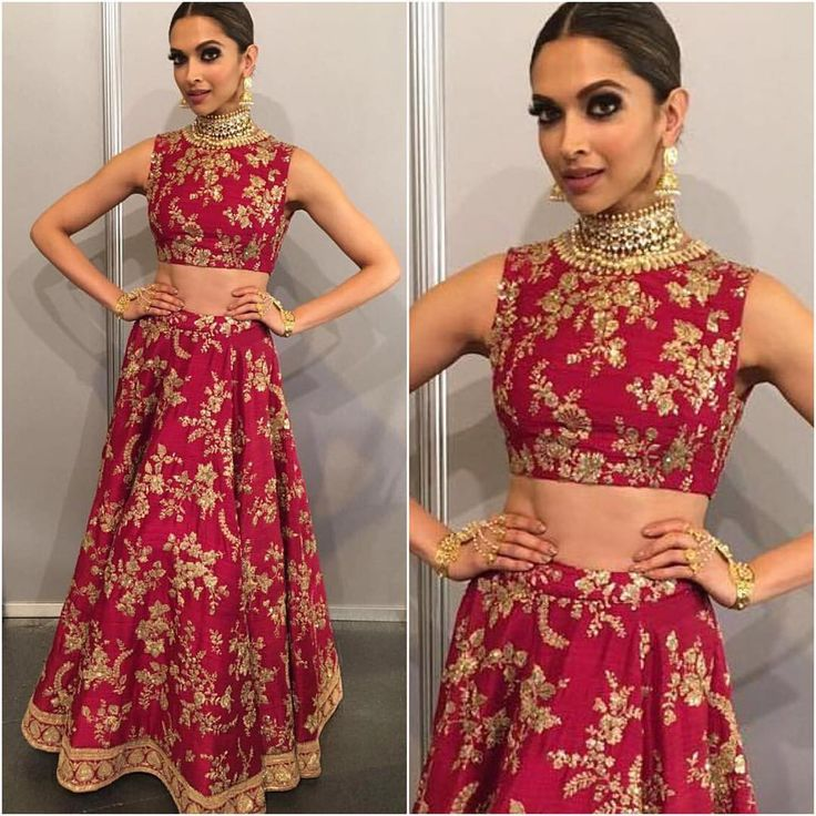 """5,745 Likes, 18 Comments - @afashionistasdiaries on Instagram: """"@deepikapadukone looked stunning in a red @sabyasachiofficial while performing at IIFA Awards…"""""""