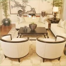 Beautiful Asian Living Room Again, Small Sofa And Two Small Chairs Flanking  Fp