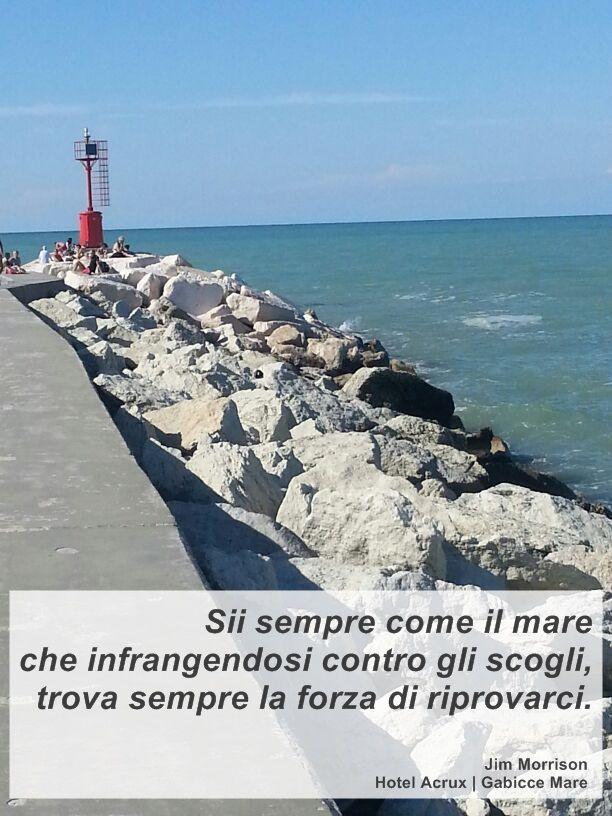 #gabicce #destinazionemarche #mare #sea #aforismi #citazioni #hotelacrux