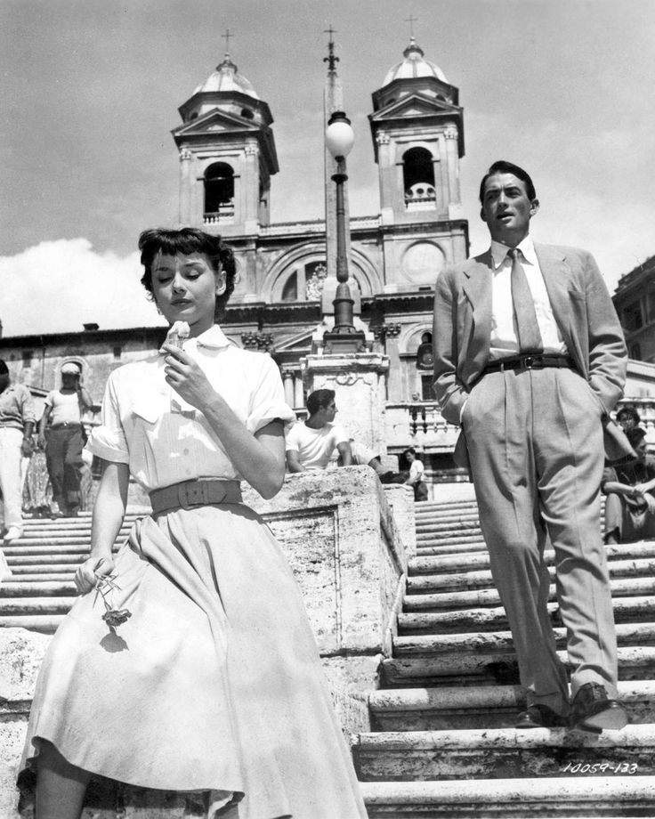 Those Roman Holidays. Audrey Hepburn and Gregory Peck, 1953.