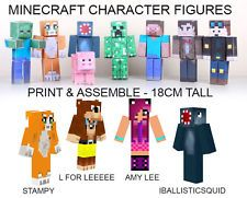 Minecraft Figures - Stampylongnose, L for Leeeee, Amy-Lee and iBallisticSquid