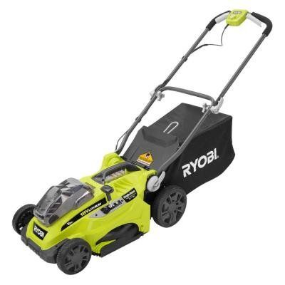 Ryobi 16 in. ONE+ 18-Volt Lithium-Ion Cordless Lawn Mower with 2 Batteries > Works with all Ryobi ONE+ tools and batteries Includes two 4.0 Ah lithium+ batteries for increased power and extended run time 16 in. cutting deck with 5-position, single-point height adjustment (1.25 - 3.5 in.) Check more at http://farmgardensuperstore.com/product/ryobi-16-in-one-18-volt-lithium-ion-cordless-lawn-mower-with-2-batteries/