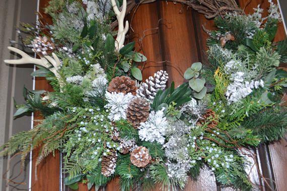 Best 25+ Antler wreath ideas on Pinterest | Christmas deer ...