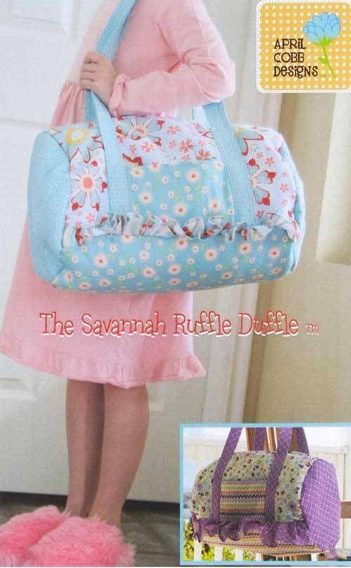 Savannah Ruffle Duffle Bag Sewing Pattern