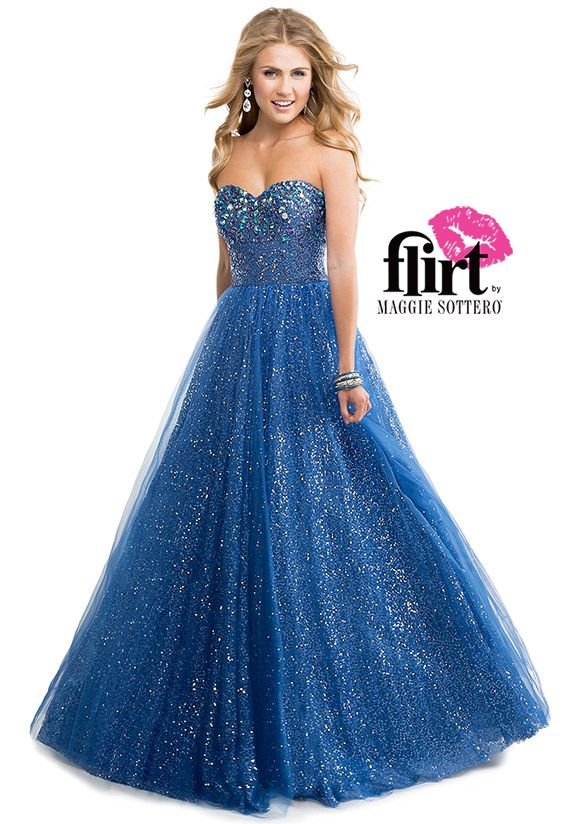 floral lace prom dress by flirt p14