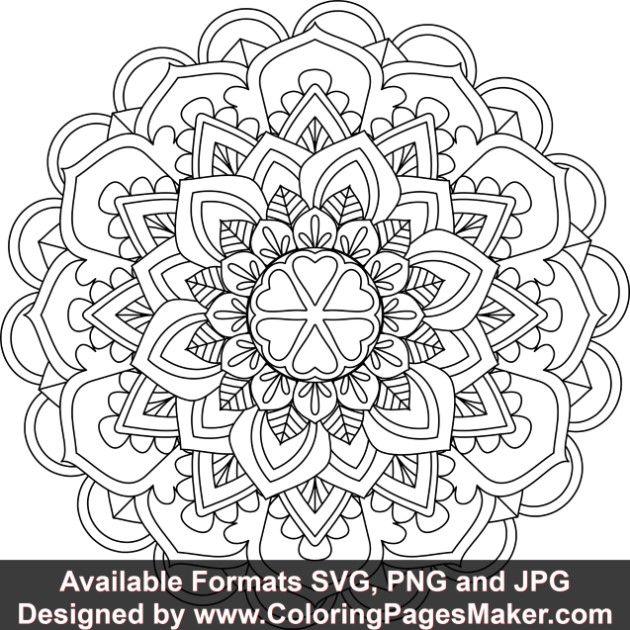 Svg Mandala Art 537 Mandala Art Mandala Coloring Pages Mandala