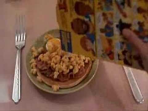 pee wee herman eating mr. t cereal!