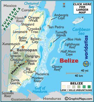 Large Belize Map - Map of Belize, Belize Map - World Atlas